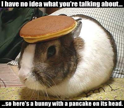 pancake on head